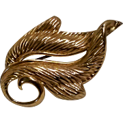 Napier sterling silver stylized leaf pin 1950's