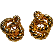Mimi Di N clip earrings rope knot