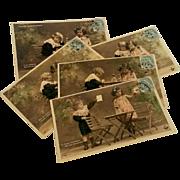 Postcards French series Nitram Edwardian children fantasy photo 1904