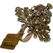 """Napier Cocktail ring over the top rhinestone 1 5/8"""" face"""