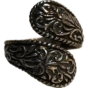 Carolyn Pollack Relios sterling silver ring wrap by pass