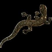 """Sterling marcasire lizard pin 3 5/8"""""""