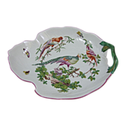 Mottahedeh Porcelain Chelsea Bird Leaf Dish Center Bowl