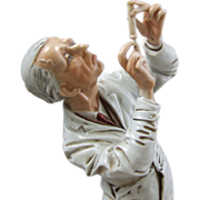 REDUCED Capodimonte Italy Porcelain Figure of a Physician Doctor