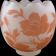 Bohemian Cameo Glass Rose Bowl