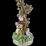 Von Schierholtz Porcelain Figural Group – The Apple Harvest