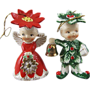 Napco Merry Christmas Sweethearts Ornament & Bell  C.1956