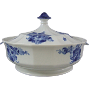 Royal Copenhagen Porcelain Blue Flowers Angular Blaue Blume Ragout Serving Bowl and Cover