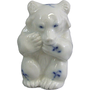 Royal Copenhagen Danish Porcelain Blue Fluted 235 Bear Figure
