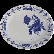 Royal Copenhagen Denmark Blue Flowers Curved Fruit Basket Oval Dish Platter