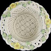 Belleek Irish Porcelain Celtic Charm Basket