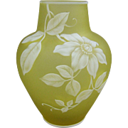 Thomas Webb & Sons English Cameo Glass Vase Signed Early Mark
