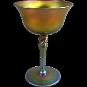 Frederick Carder Era Steuben Glass Gold Aurene 2361 Sherbet Champagne Saucer