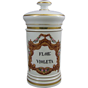 Antique French Porcelain Apothecary Jar