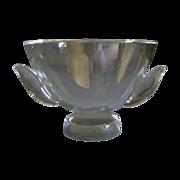 Steuben Pedestal Bowl SP840 with Applied Wings  Designed by Jeanne Leach 1952