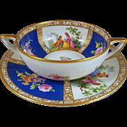REDUCED Franziska Hirsch Dresden Porcelain Rare Cream Soup Courting Couples