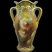 REDUCED Royal Bonn Art Nouveau Hand Painted Vase M. Dirkmann