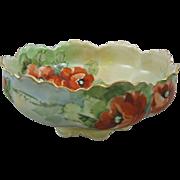 Haviland France Limoges Hand Painted Porcelain 10 inch Center Bowl