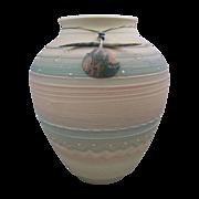 REDUCED Debra Swauger Southwestern Porcelain Clay Pueblo Vase with Fetish
