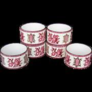 Set of Six Scandinavian or Russian Napkin Serviette Rings excellent Condition