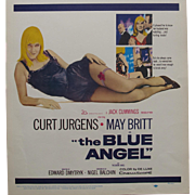 1959 Movie Poster The Blue Angel Curt Jurgens & May Britt Film Cinema Pin Up Cheescake