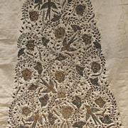 Antique Asian Indian Rajasthani Hand Embroidered Zardozi Bridal Coat Back