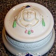 Art Deco circa 1921 Schafer & Vater Enamelled Figural Jar