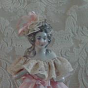 "1920/30 Feminine Half Doll Lamp 12"""