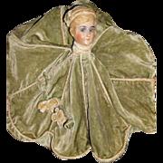 1920/30 Velvet Boudoir Doll Lingerie Bag