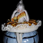 1920/30 Three Piece Half Doll Powder Bowl