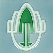 Three c.1905 Continental Art Nouveau Stylised Design Tiles, Framed