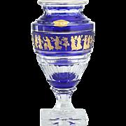 Val St. Lambert Jupiter Danse De Flore Cobalt Cased Crystal Vase #2