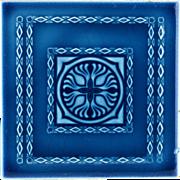 c.1900 Continental Art Nouveau Tile, Now Framed