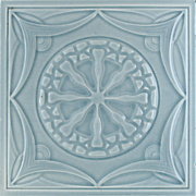 c.1900 Mügeln German Art Nouveau Tile #2, Now Framed