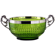 c.1920s WMF Cut Glass Fruit Bowl With Plated Mounts