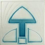 c.1905 Boizenburg German Art Nouveau Tile #2