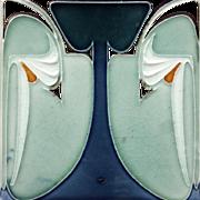 c.1900 Servais German Art Nouveau Tile