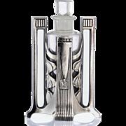 c.1910 Wmf Art Nouveau Scent Perfume Bottle Holder With Bottle