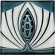 c.1905 M.O.P.F. German Art Nouveau Stylised Tile