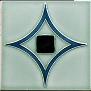 c.1900 MOPF German Art Nouveau Tile #1