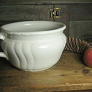 SALE Great Old White Ironstone Chamber Pot ~ Johnson Bros.- England