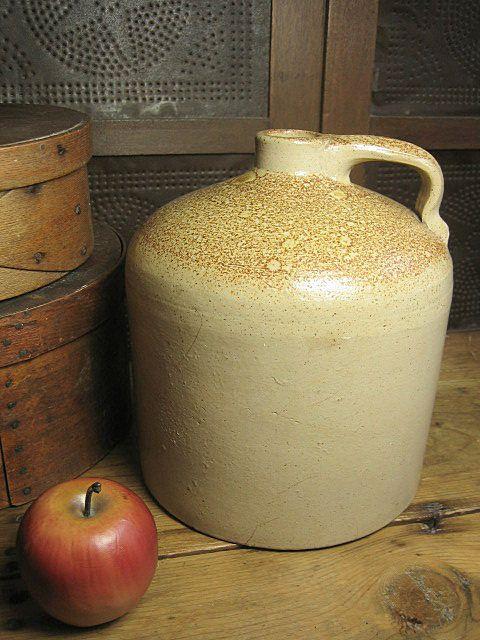 Old Beehive Salt Glaze Stoneware Jug w/ Orange Peel Surface
