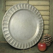 SALE Gorgeous Vintage WILTON Pewter Plate - Columbia, PA