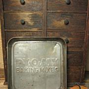 Small Old Advertising Tin 'PY-O-MY' Baking Mixes' Kitchenware Pan