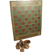 SALE Stunning All Original Old Antique Hand Made Slate Tiled and Wood Folk Art Game ...