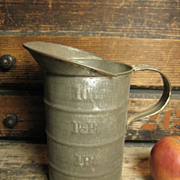 Granny's Old Farm Kitchen Tall Tin 1 Quart Measure
