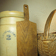 Granny's Small Old Narrow Wooden Bread Board Bread Peel
