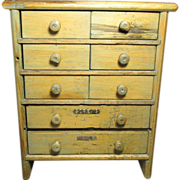 SALE PENDING Wonderful Large Old Antique 8 Drawer Wooden Apothecary Tool Cabinet