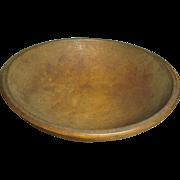 Lovely Early Old MUNISING Wooden Bowl - Dark Attic Finish
