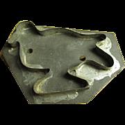 Grandma's Old Tin Handled Figural Bird Shaped Cookie Cutter